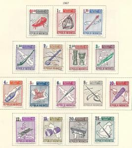 Indonesia  #705-716 (M&U)  CV $6.30