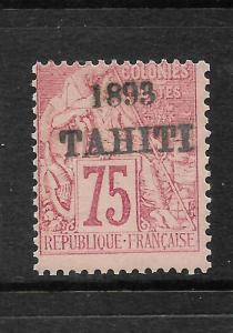 TAHITI  1893  75c  MOUCHON   MLH     SG 42