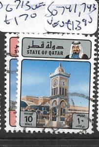 QATAR (P1102B) SG 741, 743  VFU