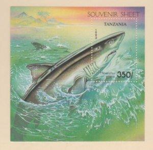 Tanzania Scott #1143 Stamps - Mint NH Souvenir Sheet