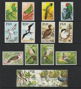 Fiji x 4 MNH bird sets