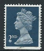 GB Machin 2nd QE II  SG 1449 VFU  Booklet bottom imperf