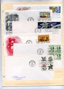 6 First Day Covers Includes 1331-2