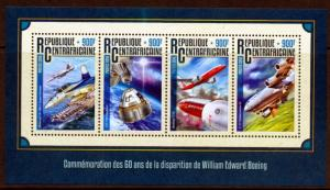 CENTRAL AFRICA 2016  50th MEMORIAL ANNIVERSARY  OF WILLIAM BOEING  SHT  MINT NH