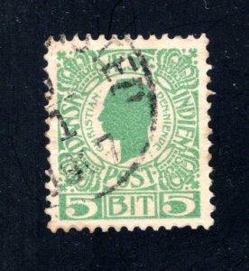 Danish West Indies #31,  VF,  Used,   CV $3.25 ....1630026
