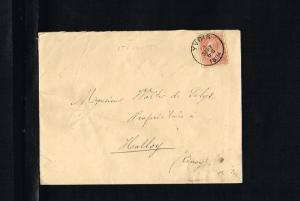 1894 - Belgium Cover - From Yvoir to Ciney [B09_108]