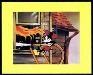 GRENADA - 1979 - DISNEY - FIREMAN MICKEY - FIRE FIGHTER - MINT - MNH S/SHEET!