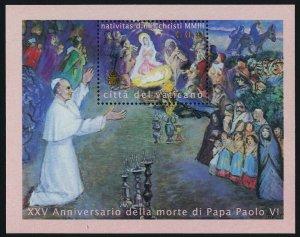 Vatican 1257 MNH Christmas, 25th Anniv of Death of Pope Paul VI