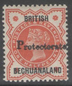 BECHUANALAND SG40a 1888 ½d VERMILION PROTECTORATE DOUBLE MTD MINT