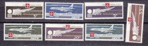 J26751 1974 malta set mh #c2-8 airplanes