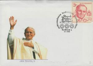 O) 1995 SLOVENIA, POPE JOHN PAUL II-KAROL WOJTYLA, COAT PAPA