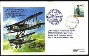 NEW ZEALAND 1989 RNZAF commem flight cover.................................23829