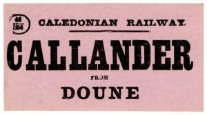(I.B) Caledonian Railway : Parcel Label (Callander to Doune)