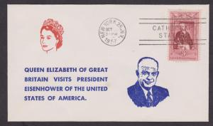 Queen Elizabeth Visits Dwight Eisenhower Event Cover