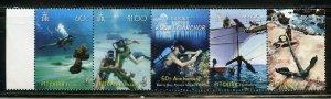 PITCAIRN ISLAND SCOTT#684 DIVING STRIP MINT NH