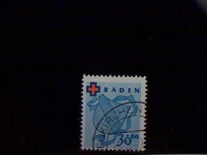 Germany, Baden (AlliedOcc), Scott 5NB2, used(o), Arms of Baden, (20+40pf), lilac