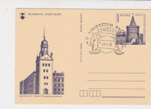 Poland 1978 Polar Expedition Penguin + Polar Bear Slogan Stamps Card ref 23154