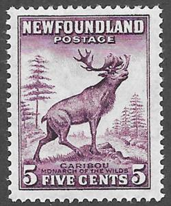 Newfoundland Scott Number 191a Die I VF NH