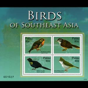 PALAU 2007 - Scott# 920 Sheet-Birds NH