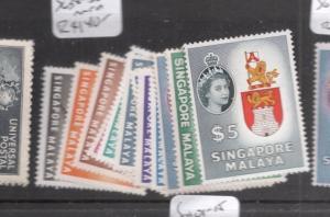 Singapore SG 38-52 MNH (6dis)
