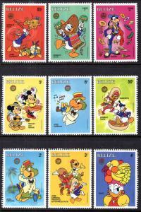 Belize 851a-851l Disney's Singles MNH VF