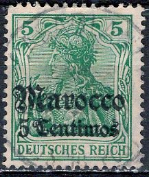 Germany - Morocco; 1900: Sc. # 8: O/Used Single Stamp