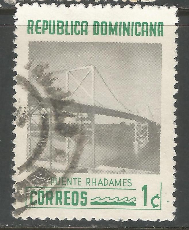 DOMINICAN REPUBLIC 518 VFU BRIDGE V503-3