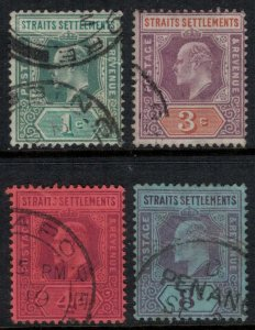 Straits Settlements #93-5,7  CV $4.90