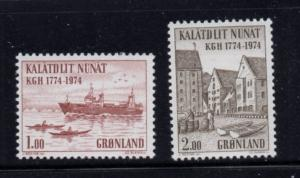 Greenland Sc 98-99 1974 Board of Trade stamp set mint NH
