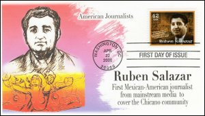AO-4251, 2008, American Journalist, Ruben Salazar, Add-on Cover, FDC, SC 4251