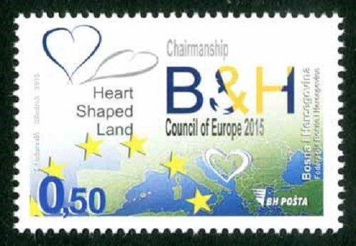 BOSNIA & HERZEGOVINA/2015, The chairmanship of the B&H, Council of Europe, MNH