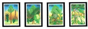 Fiji 629-32 MNH 1990 Trees