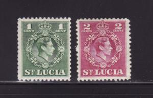 St Lucia 135-136 MHR King George VI