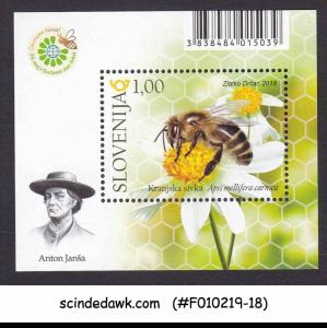 SLOVENIA - 2018 WORLD BEE DAY / INSECTS - MIN. SHEET MNH