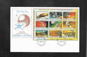 Sierra Leone 1990 Mars Exploration FDC's