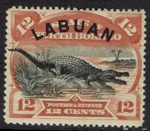 LABUAN 1894 CROCODILE 12C PERF 14.5 - 15