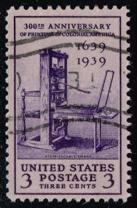 US #857 Printing Tercentenary; used (0.25)