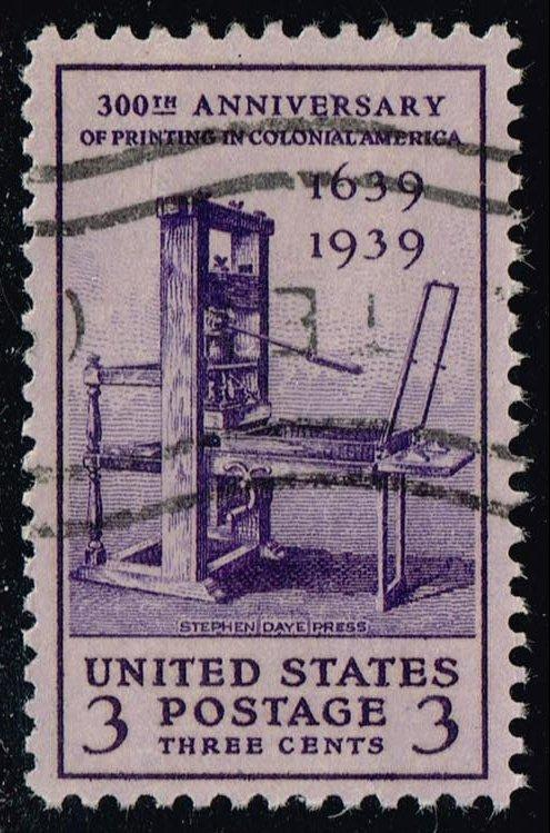 US #857 Printing Tercentenary; used (0.25)