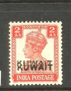 KUWAIT 1939  2a  KGVI  DOUBLE OVPT VARIETY  MNH  SG 39