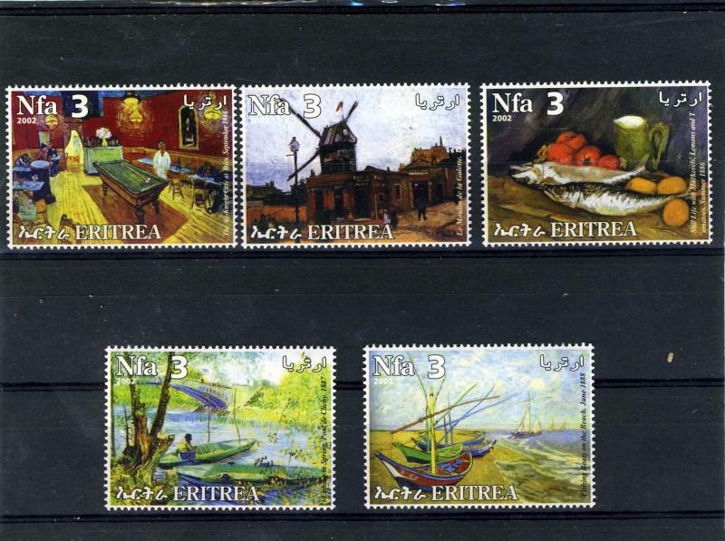 Eritrea 2002 Vincent Van Gogh Paintings Set Perforated mnh.vf