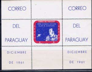 Paraguay 1961 Alan Shepard Space Flight S/S MNH