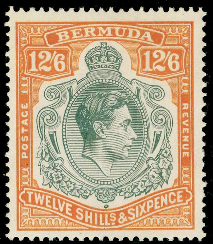 BERMUDA SG120a, 12s grey & brownish orange, LH MINT. Cat £225.