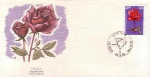 India FDC SC# 1074 Sugandha Rose L45
