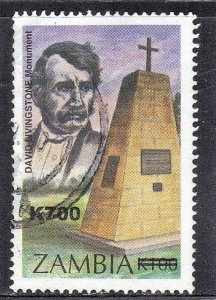 ZAMBIA SC #870A **USED** 700k on 100k  2000  SURCHARGED SEE SCAN