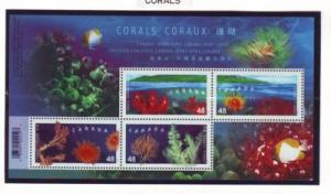 Canada Sc 1951b 2002 Corals stamp sheet mint NH