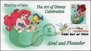 AO-3914–1, 2005, The Art of Disney Celebration, Digital Color Postmark, Little