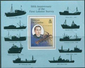 Tristan Da Cunha 1998 SG636 First Lobster Survey MS MNH