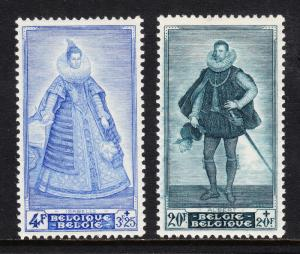 BELGIUM — SCOTT B465-B466 — ISABELLA & ALBERT PORTRAITS — MNH/MLH — SCV $52.00