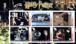 HARRY POTTER Sheet (6) Perforated Mint (NH)