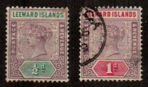 Leeward Islands #1-2  Mint & Used  Scott $4.00